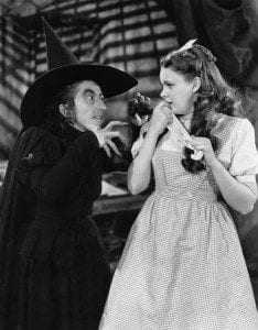 The wicked witch can be seen as the black hat SEO practitioner who unleashes the flying purple monkeys against Dorothy