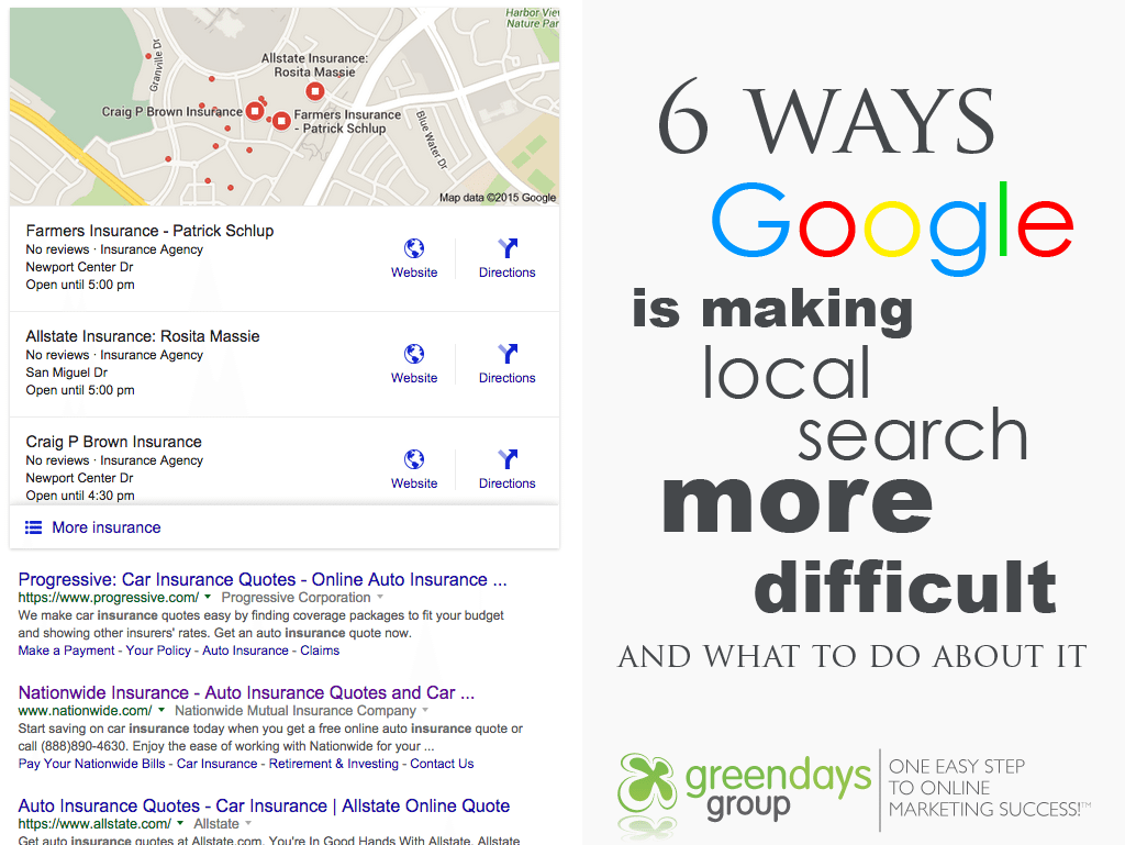 6 ways google is making local search marketing more difficult and 3 things you can do about it...